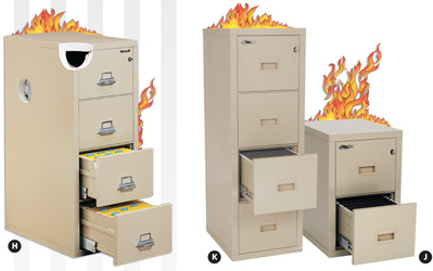 Fire Proof  Vertical File Cabinets