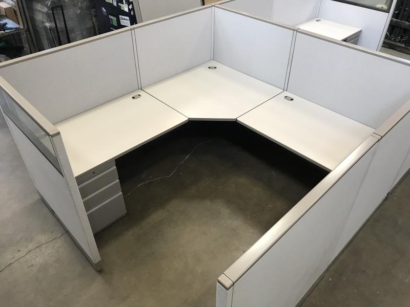 "Allsteel Office Cubicle   7'.6"" x 7'.6' x53"" H"