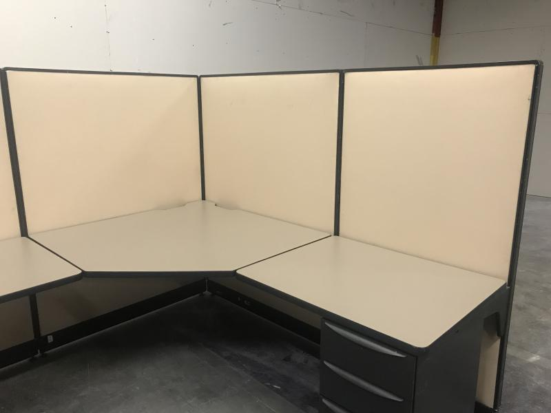 "Office Cubicle Haworth Unigroup  7'x 7' x 64"" H"