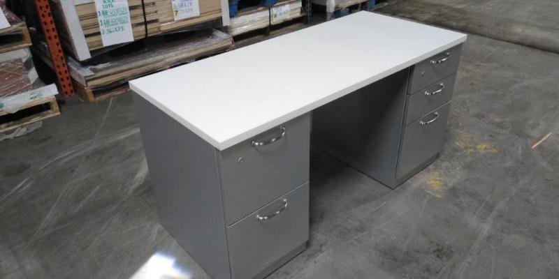 Double Pedestal Desk 66x24