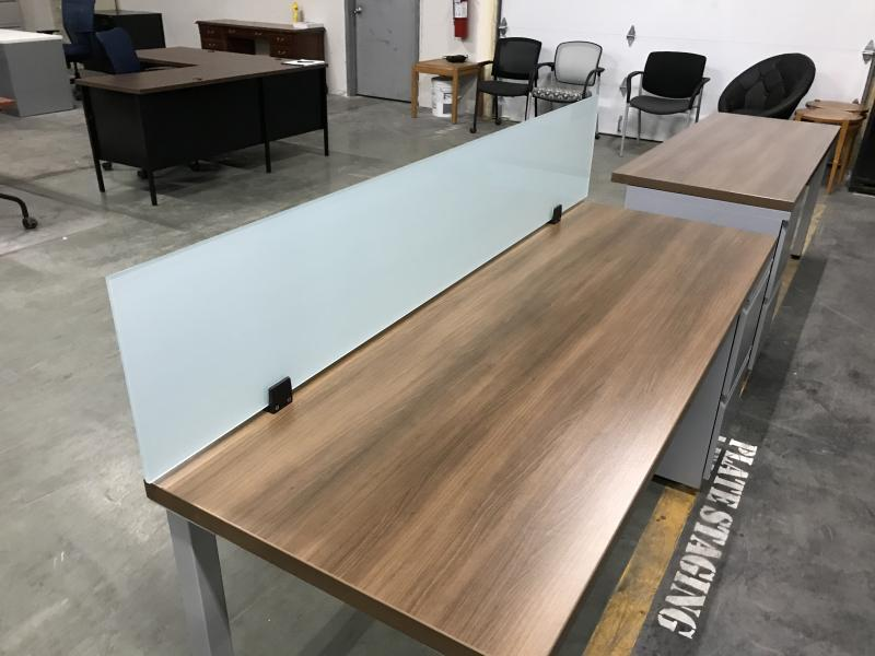 "Laminate Office Desk  71"" x 24""  Walnut"