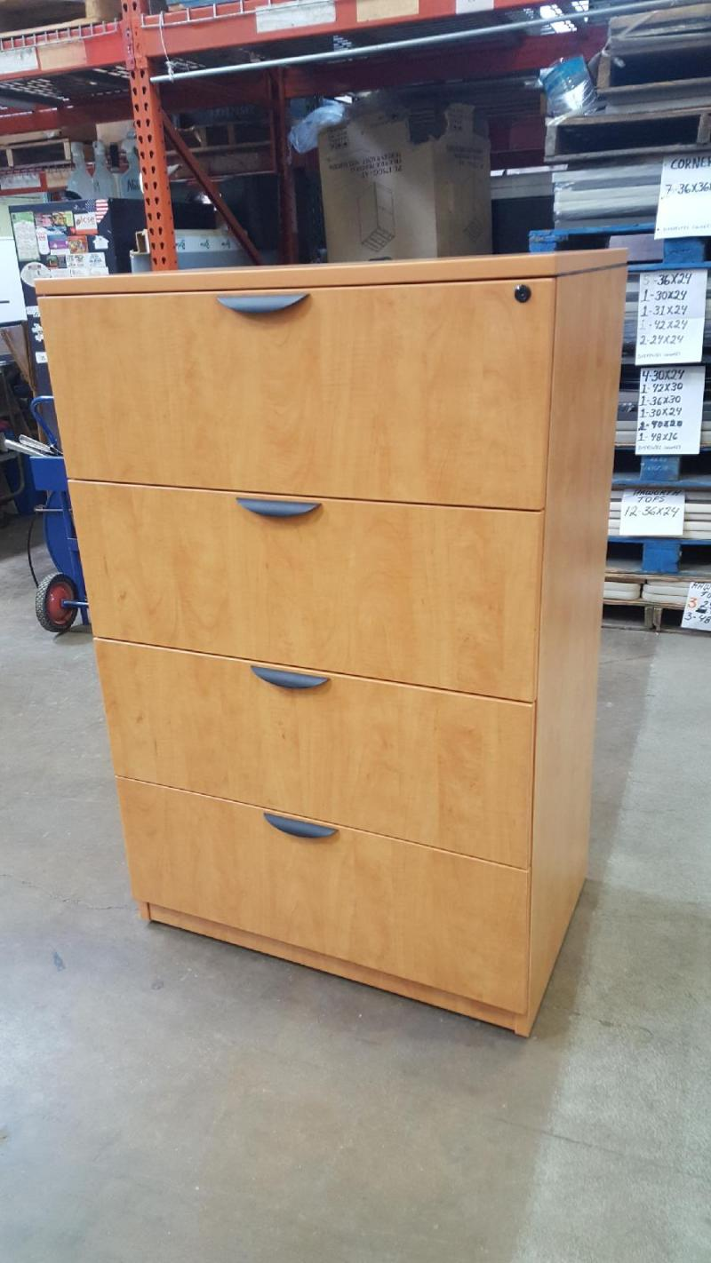 "4 Drawer Lateral File  35 1/2 ""w x 54 3/4 ""H x 22 1/2""D"