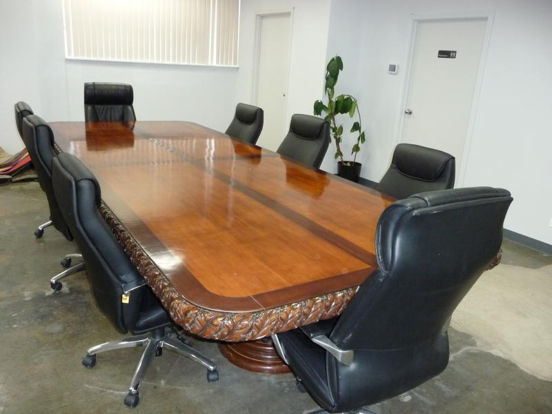Conference Table Hand Carved 5'x13'