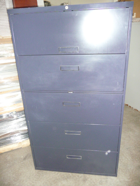 Used Steelcase 800 series 5Drawer Lateral File 36""
