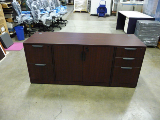 Credenza with Double Pedestal and Storage  ***New***